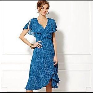 Eva Mendes Polka Dot Wrap Dress